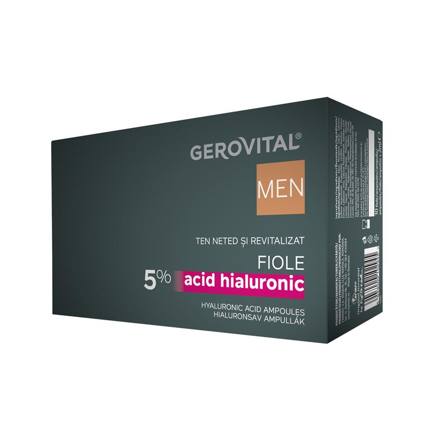 Fiale Acido Ialuronico 5% Gerovital Men