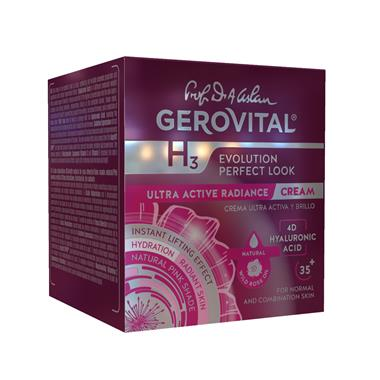 Crema Ultra-Attiva e Luminosità Gerovital H3 Evolution Perfect Look