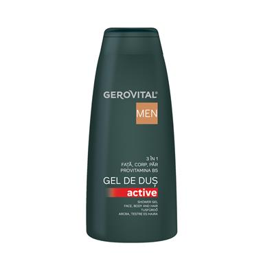 Gerovital Men Gel doccia Active 3 in 1